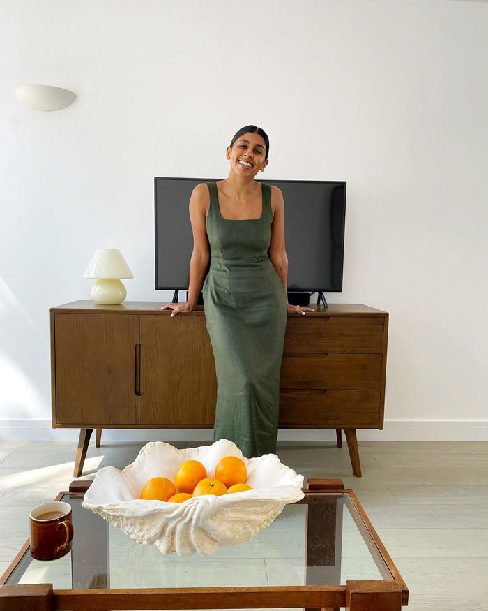 How to Repeat Outfits: Monikh Dale dons her khaki dress at any given opportunity