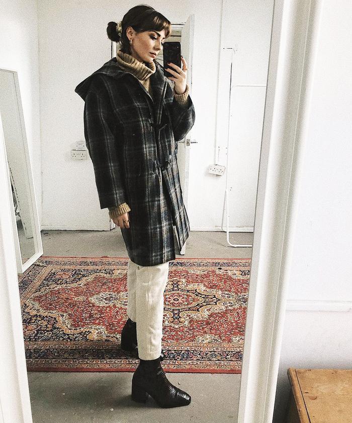 Best Duffle Coats: Alice Catherine wears Massimo Dutti's duffle coat.