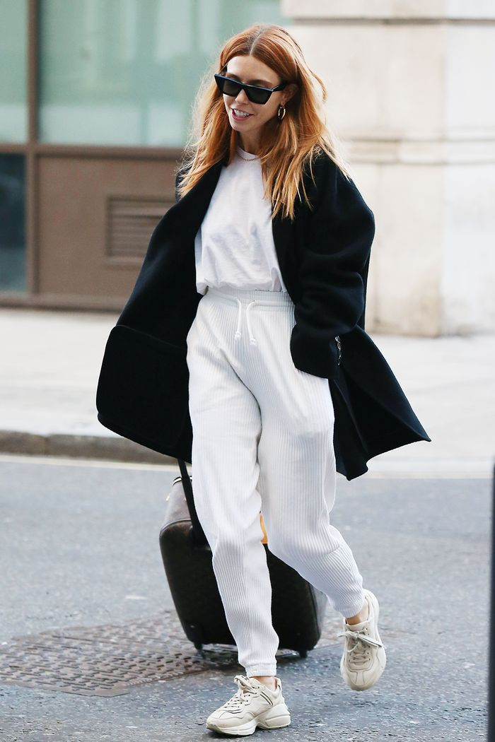 Stacey Dooley style: white tracksuit