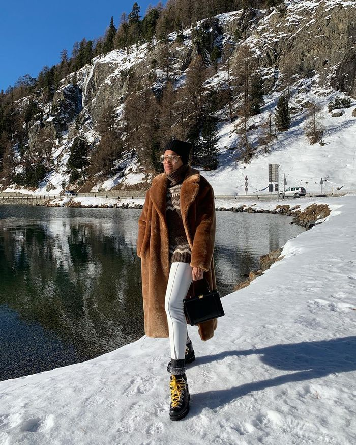 Après Ski Style: Tamu McPherson is partial to slope apparel day-to-day.