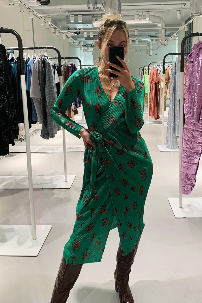 ASOS fashion trends 2019: Olivia wearing green dress