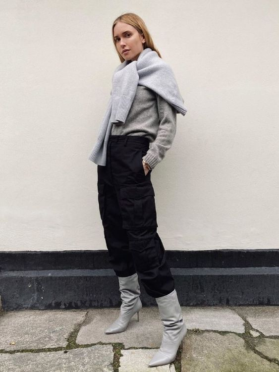Gray boot outfits