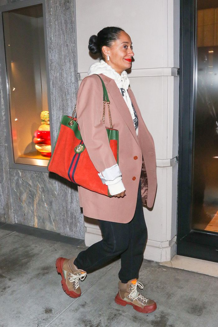 Tracee Ellis Ross in Gucci sneaker boots