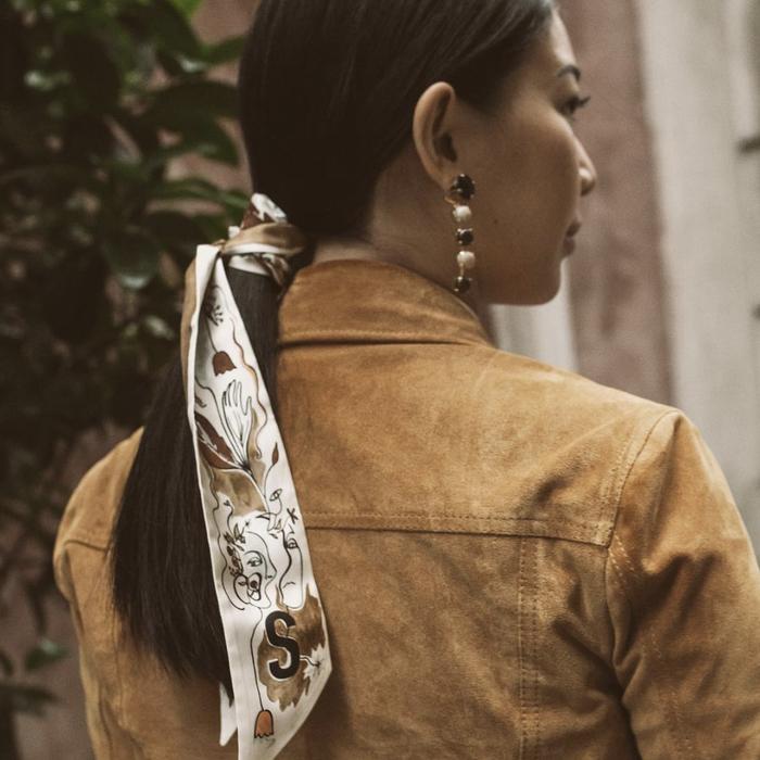 Black-diamond earrings
