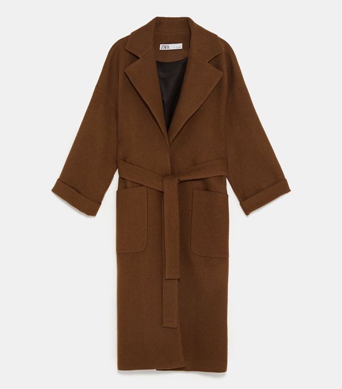 Zara Double Breast Belted Coat