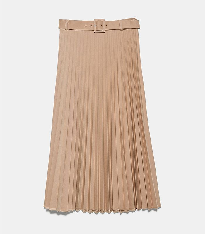 Zara Pleated Skirt with Belt