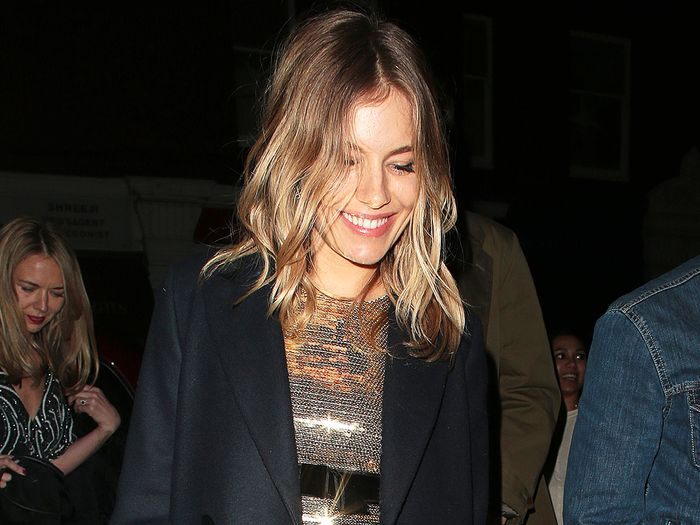 Sienna Miller Wore the Shoes Cool Girls Style With Black Tights
