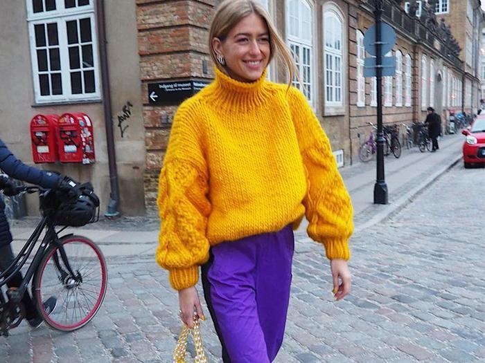 How to Wear Purple Pants