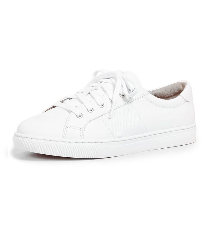 Outfits With White Leather Sneakers