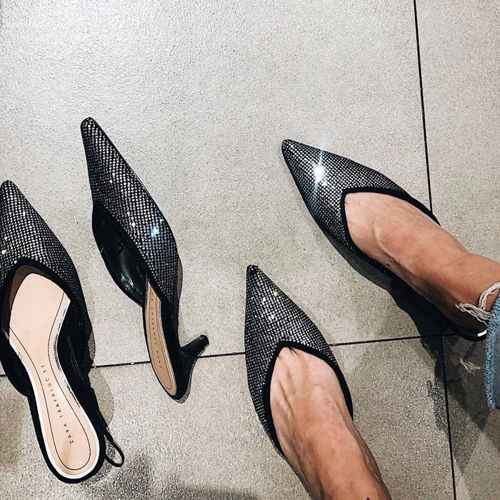 Zara Sparkly Kitten Heels