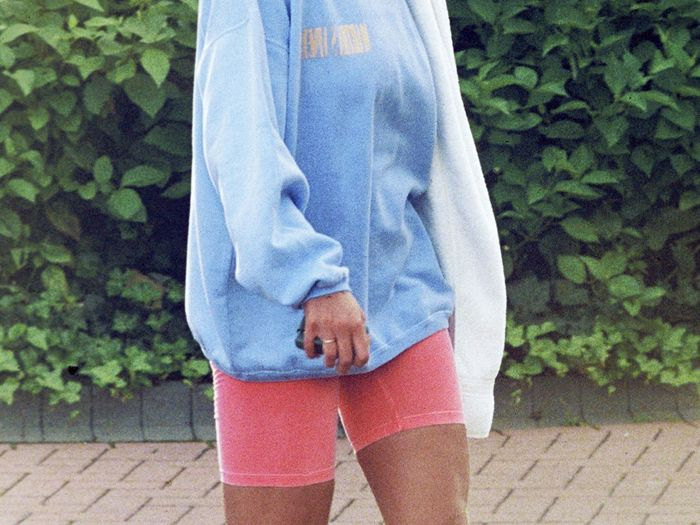80s bike shorts outfits