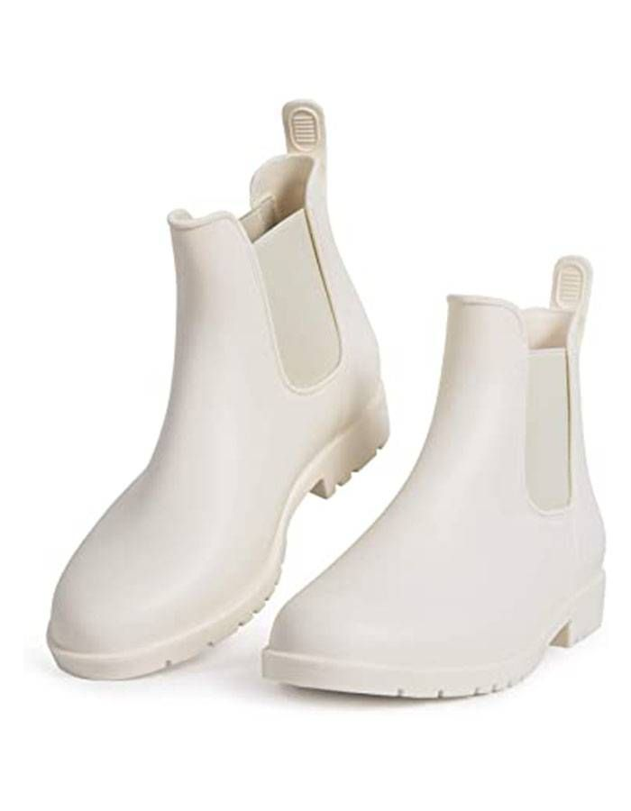 babaka Rain Boots for Women Waterproof Ankle Rain Shoes for Ladies Chelsea Boots