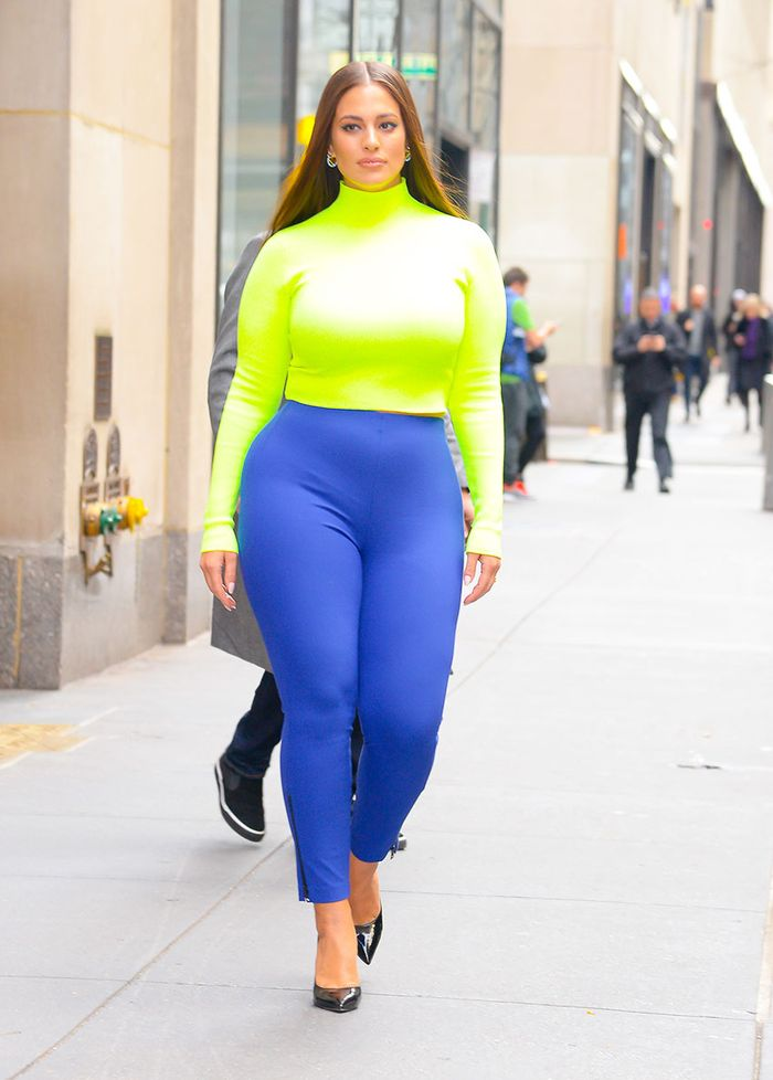 Colorful Celebrity Legging Trend: Ashley Graham