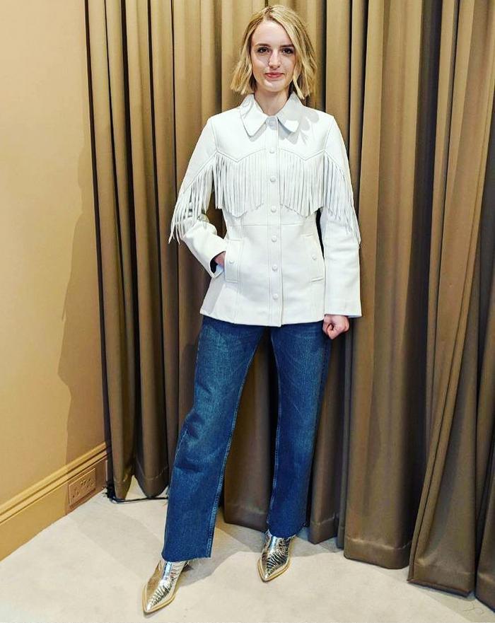 Tights under jeans: Joy Montgomery