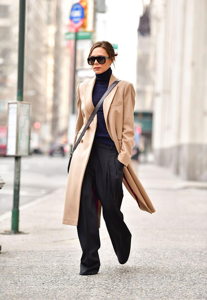 Victoria Beckham Capsule Wardrobe: Camel Coat