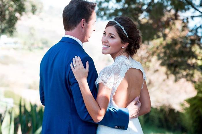 Wedding Dress With Keyhole Back