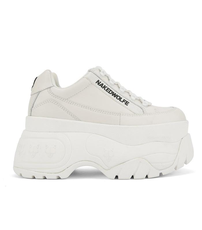 tall white platform sneakers