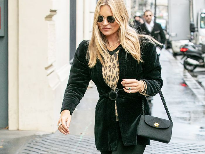 Kate Moss Is Making Us Want to Buy an All-Black Capsule Wardrobe From H&M