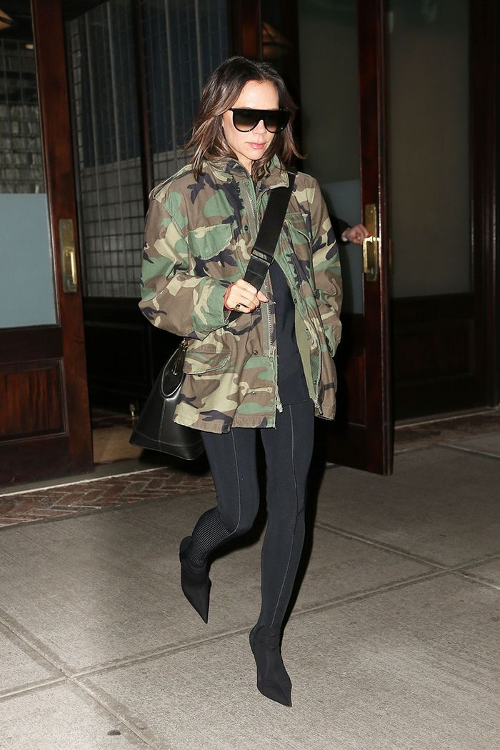 Celebrity Legging Styling Mistakes: Victoria Beckham