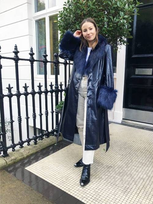 Fluffy collar coats: Emily Dawes