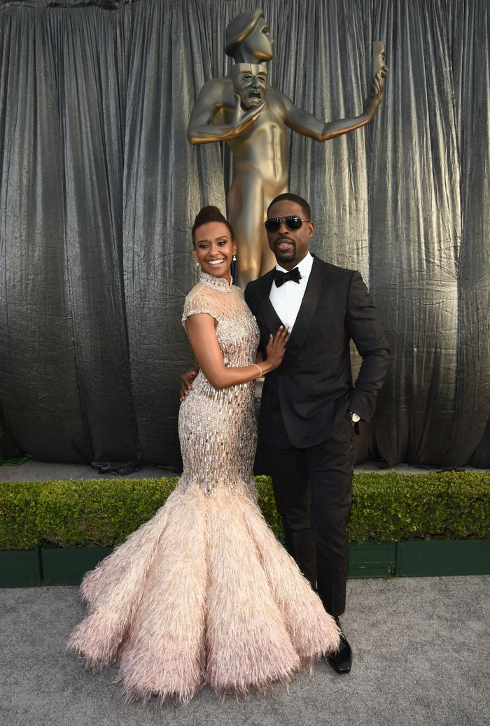 Ryan Michelle Bathe and Sterling K. Brown at the 25th Annual Sag Awards