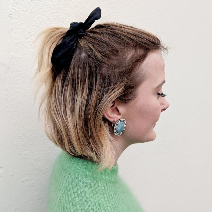 half up half down hair styles:  Alyss Bowen with Hair Half Up Half Down