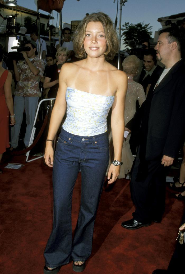 Jessica Biel '90s red carpet