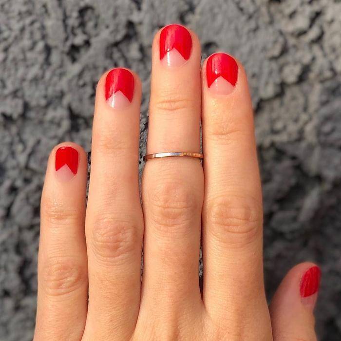 Negative space manicures
