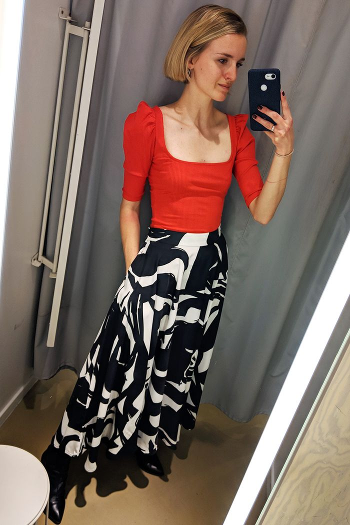 H&M editors picks: Joy Montgomery in H&M skirt and top