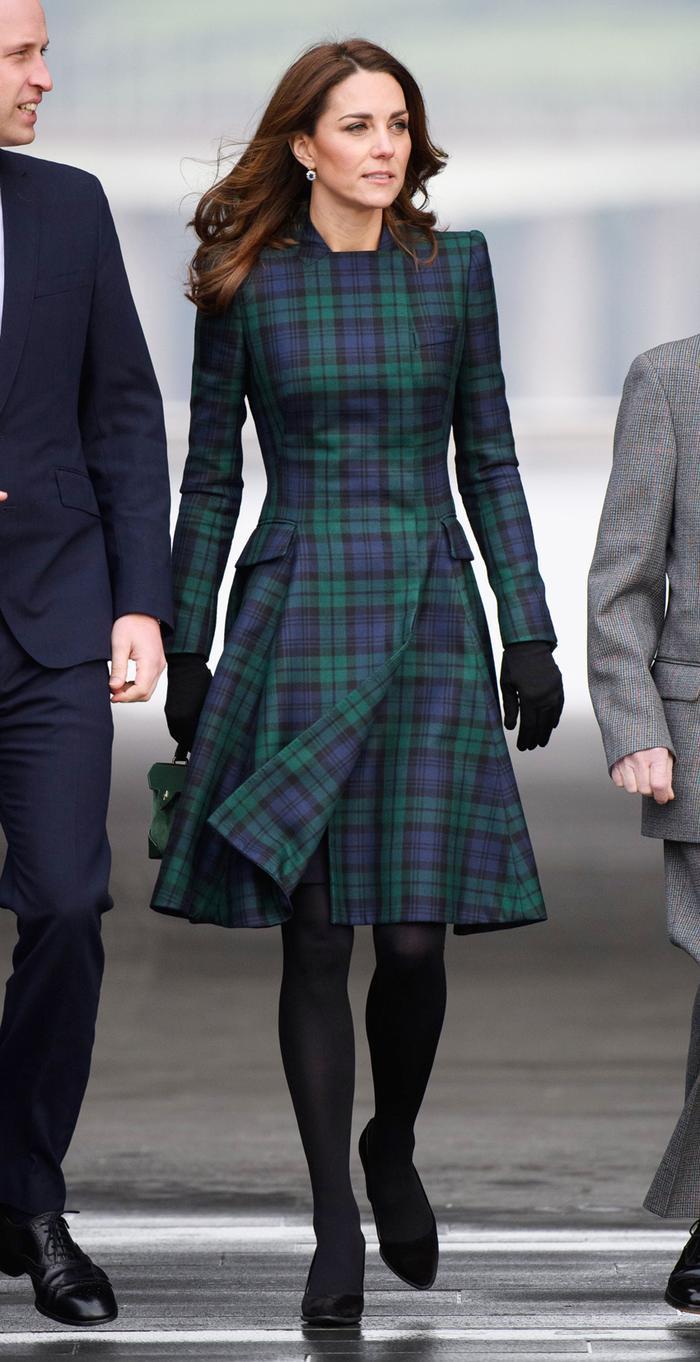 Kate Middleton tartan coat