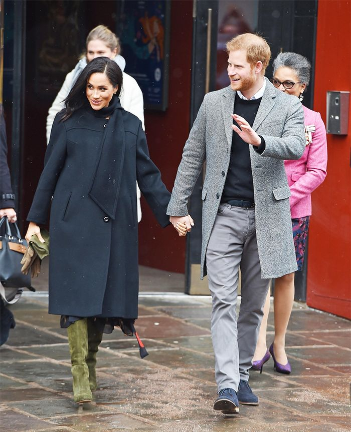 meghan markle boots outfit