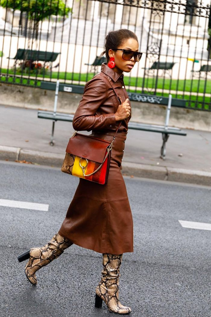 Knee high boots outfits: Slip into Style in leather co ord and boots