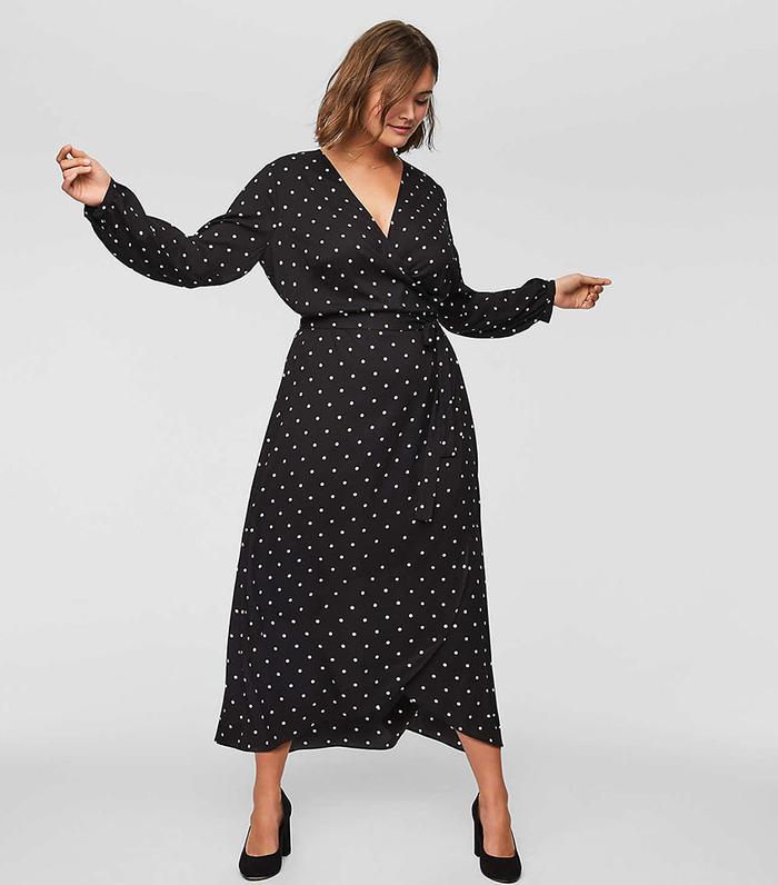 Loft Polka Dot Wrap Dress