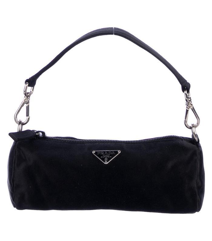 Prada Satin Zip Handle Bag