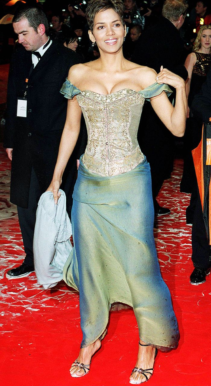 BAFTA archival fashion moments: Halle Berry in green two-tone chiffon and a corset