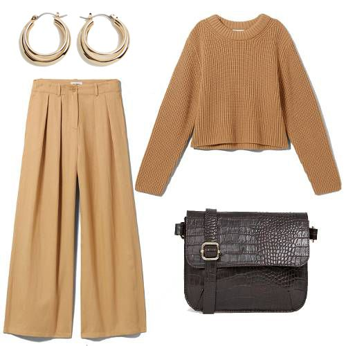 Cheap outfits: beige separates