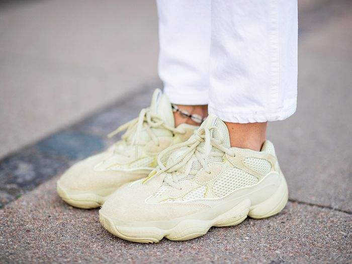 mens sneakers for women - yeezy sneaker street style