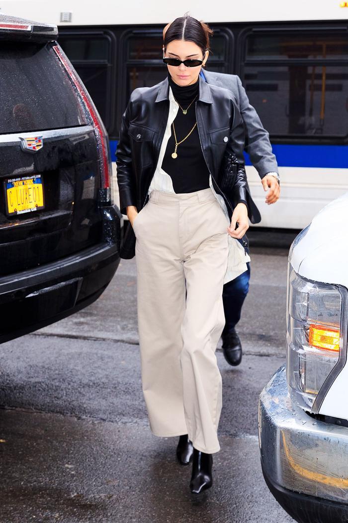 Kendall Jenner in Dickies work pants