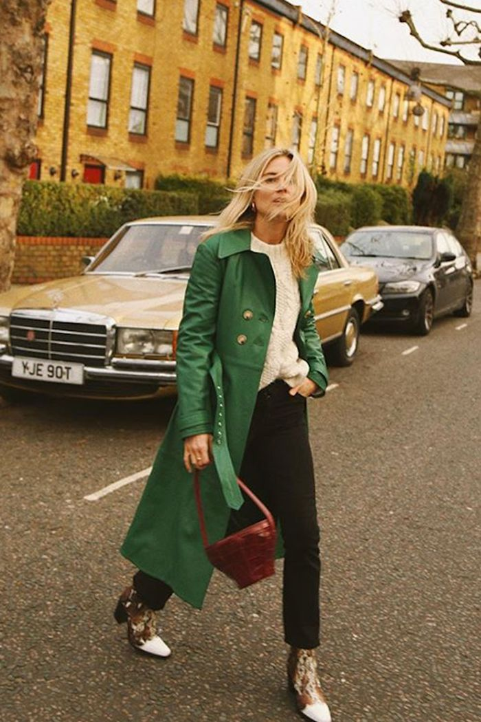 Best Spring Coats: Lucy Williams wearing Alexachung Coat