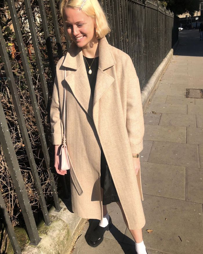 Spring Outfits: Marks and Spencer Herringbone Wrap Beige Coat
