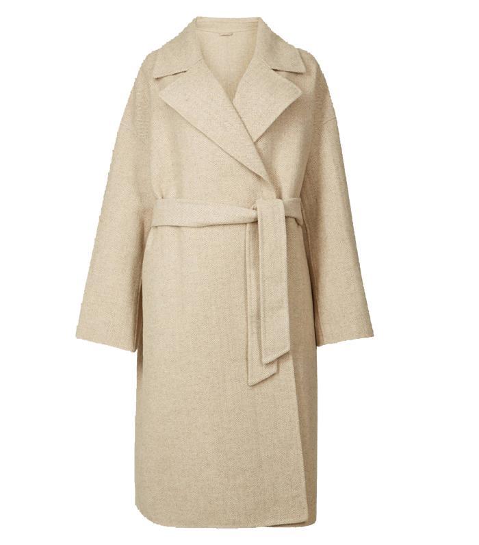 Marks and Spencer Herringbone Wrap Coat