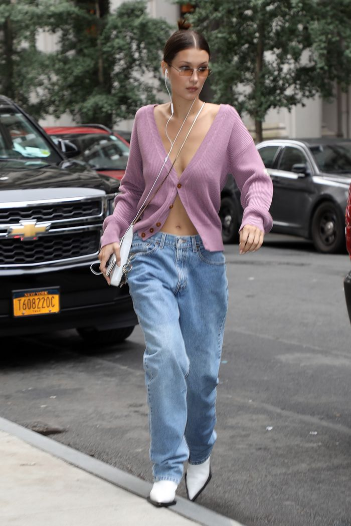 Bella Hadid Wears This Season's Baggy Jeans