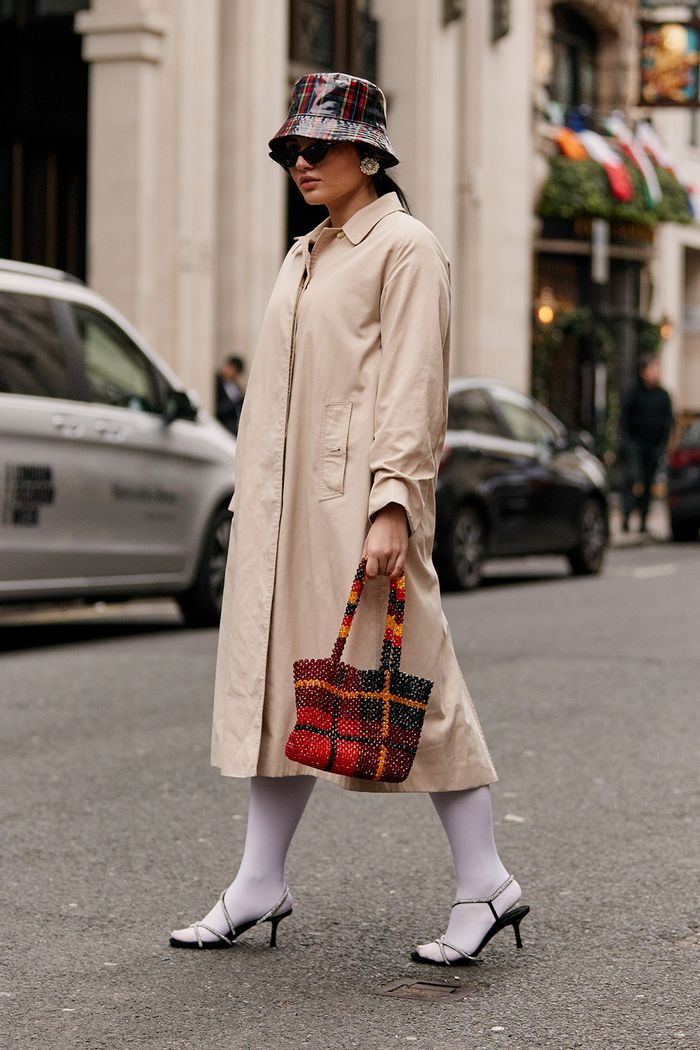 London Fashion Week cult accessories: white tights