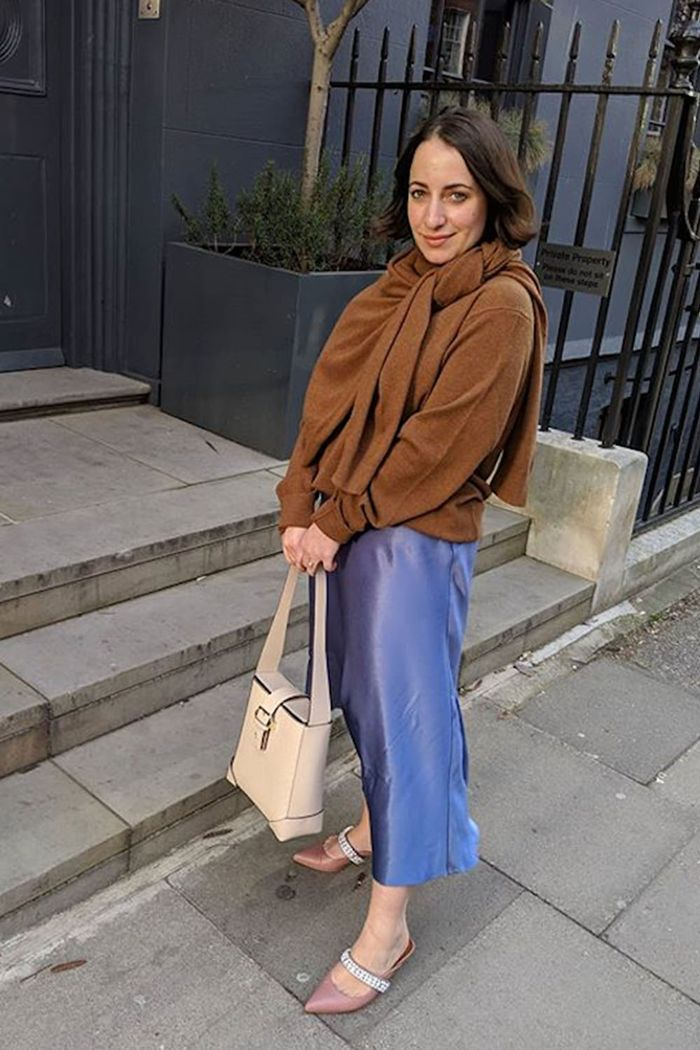 Harvey Nichols under 150 Buys: Hannah Almassi wearing Samsøe & Samsøe Skirt