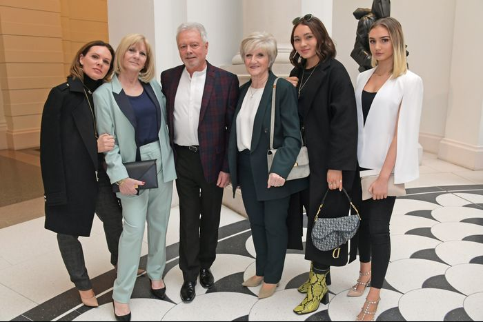 Victoria Beckham's Family at London Fashion Week 2019