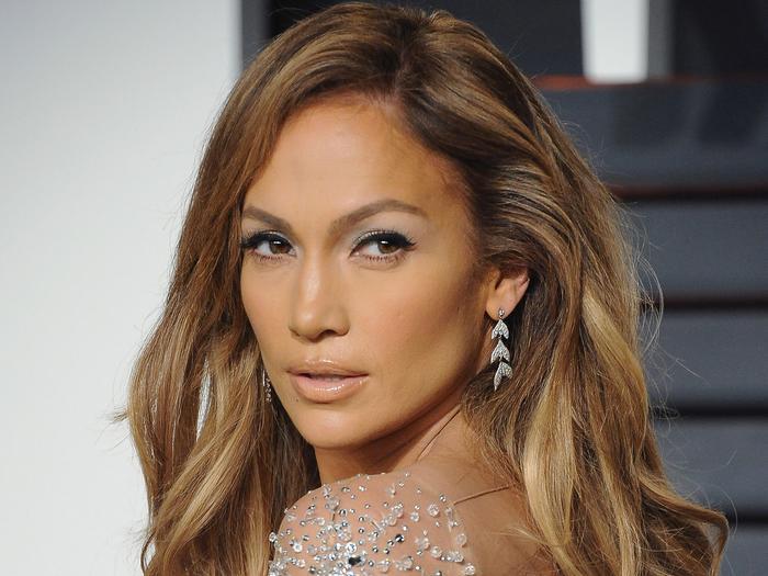 Jennifer Lopez at an Oscars Party
