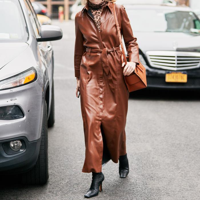 Brown Dress Street Style