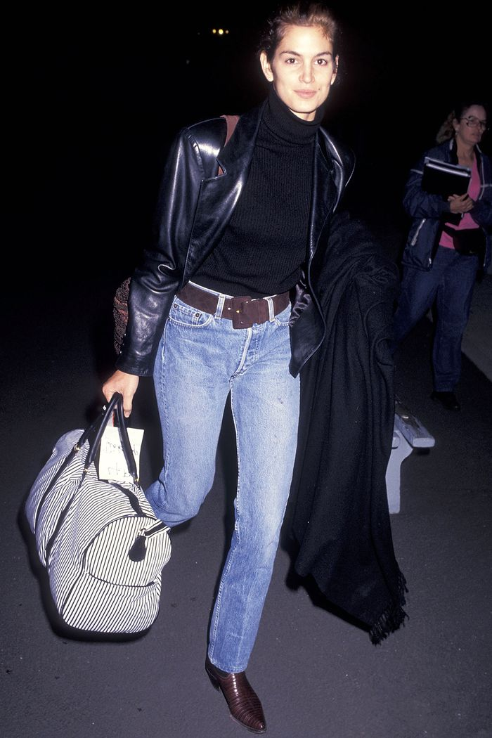 Cindy Crawford Airport Outfit '90s