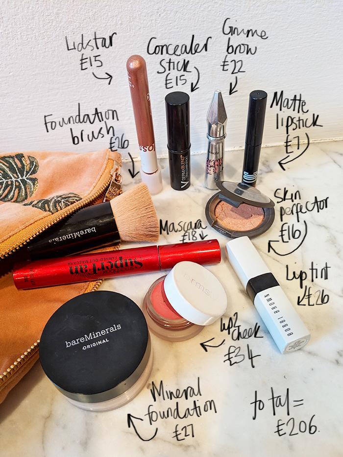 Mica Ricketts Makeup Bag Cost: Mica Ricketts makeup bag contents