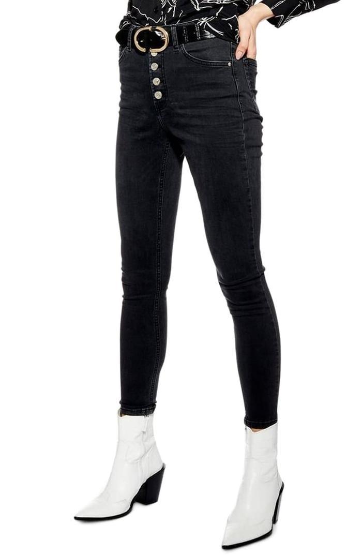 High Waist Jeanslook Slim Jeggings Leggings